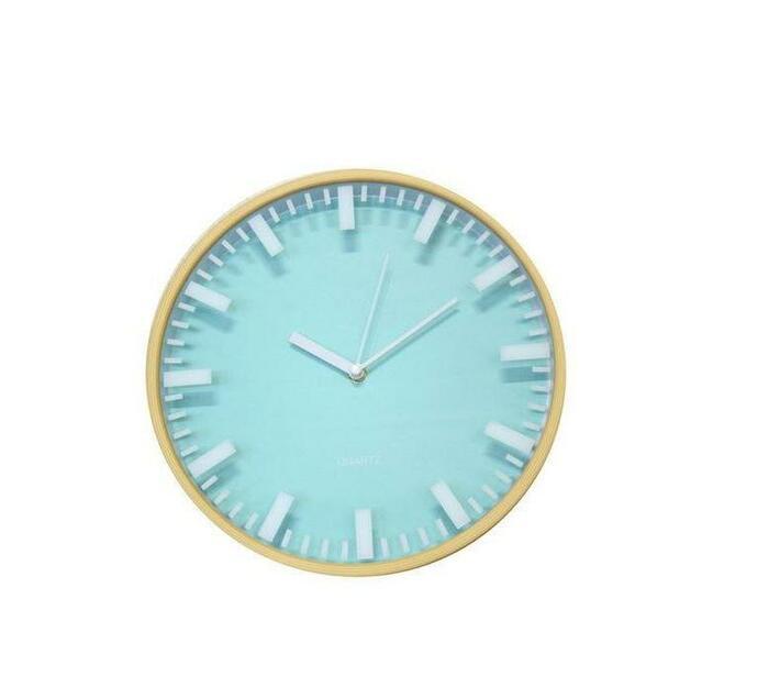 Contemporary Dimensional Silent Wall Clock – Sky Blue