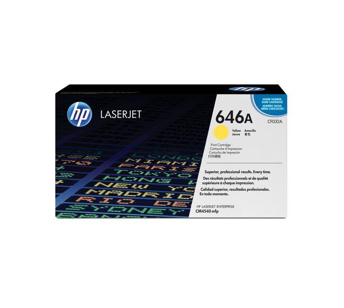 HP 646A Yellow original LaserJet toner cartridge CF032A for Color