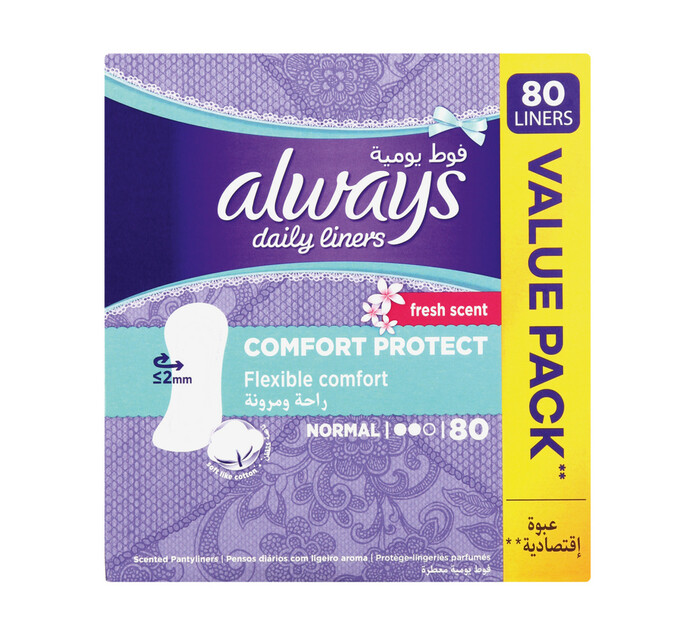 Always Panty Liners Normal Scented (1 x 80's)