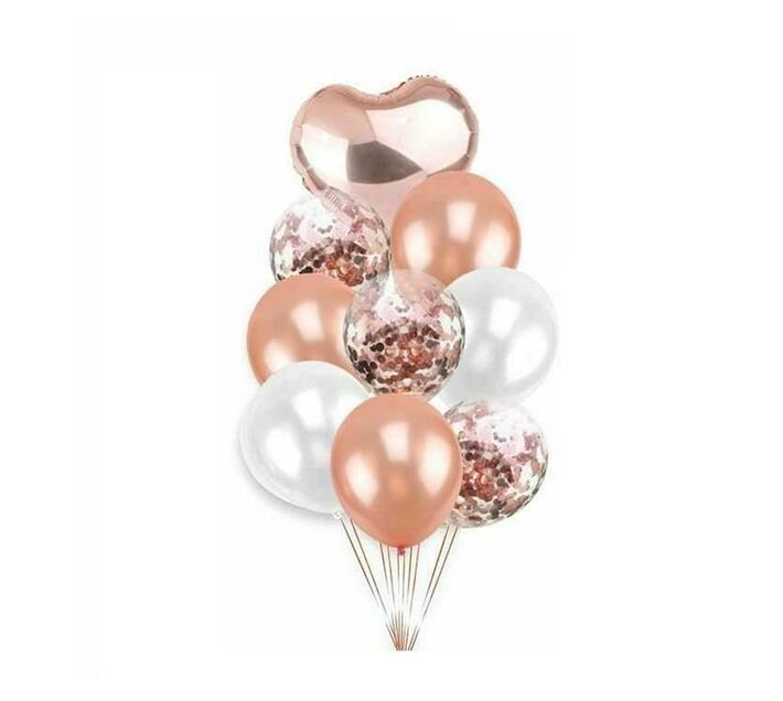 BubbleBean - RoseGold Bunched Balloon 9pc