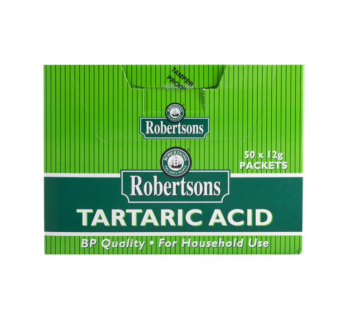 Robertsons Tartaric Acid (50 x 12g)