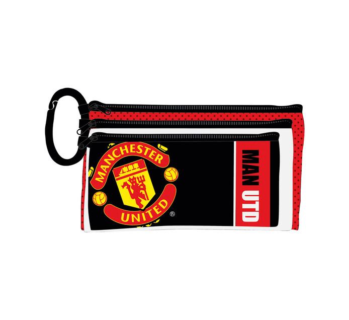 Manchester United 3-Compartment Pencil Case