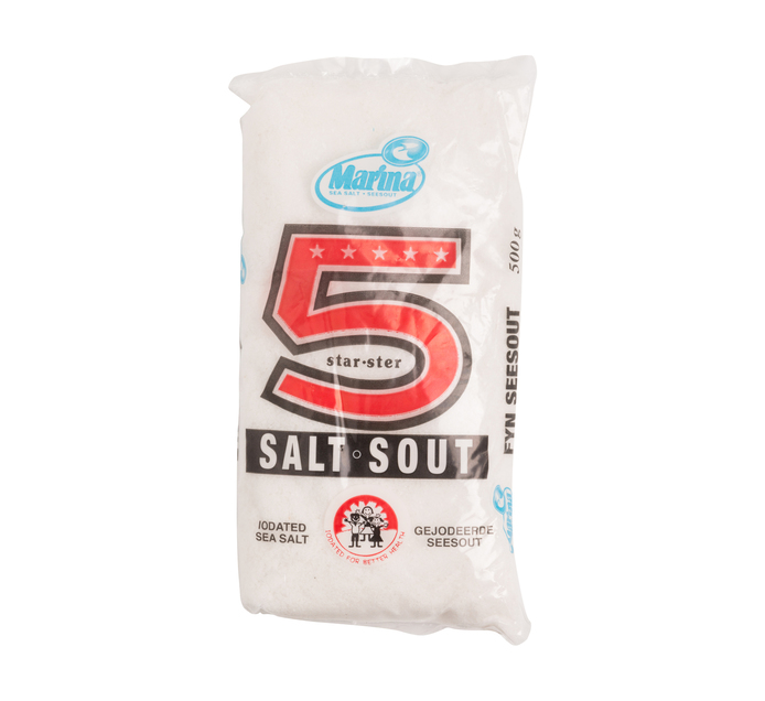 MARINA Five Star Salt Polybag (40 x 500g)