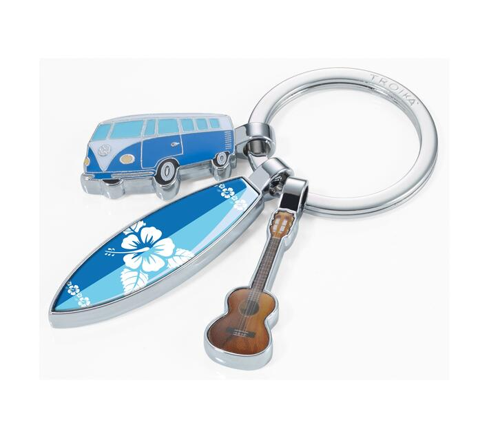 Troika Keyring with 3 Charms VW Surfmate T1 Combi