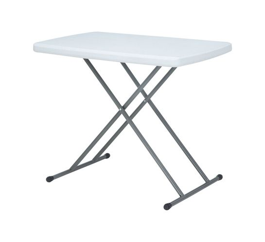 75 cm Height-Adjustable Folding Camping Table