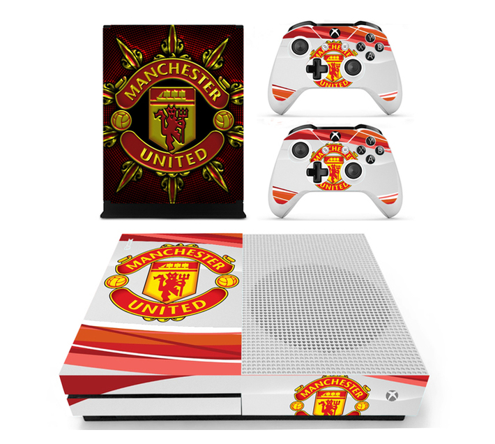 SKIN-NIT Decal Skin For Xbox One S: Manchester United (Red + White)