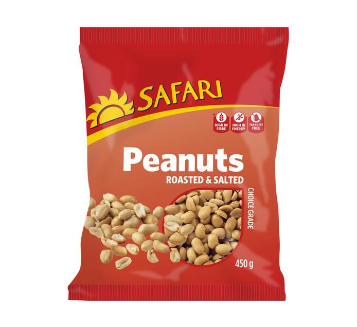 Safari Peanuts Roasted and Salted (1 x 450g)