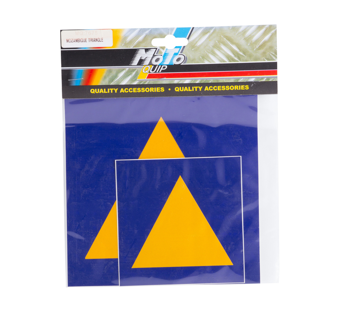 MOTO-QUIP 2 set Mozambique Triangle Stickers