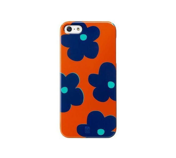 Case Scenario Girl Case iPhone 5/5S/SE Cover (Orange/Teal Flower)