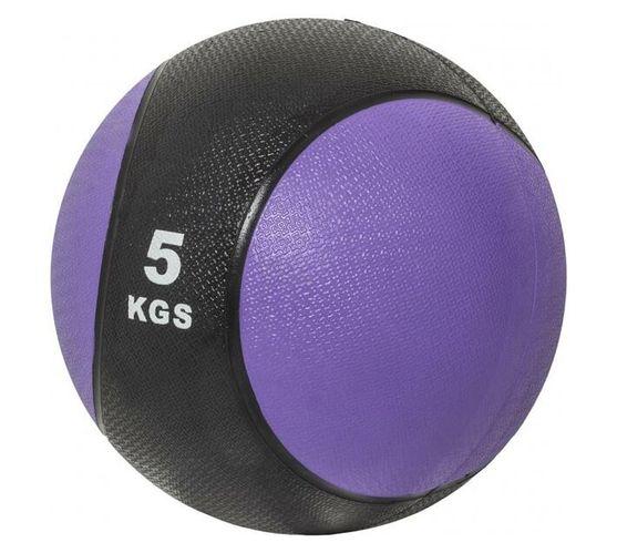 GORILLA SPORTS SA - Medicine Ball 5 kg - Purple/Black