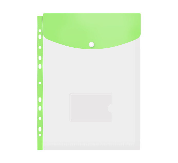 Kenzel A4 Top Load Punched Carry Folder Green Each