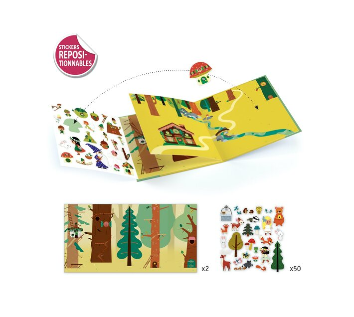 Djeco Sticker Stories- The Magical Forest