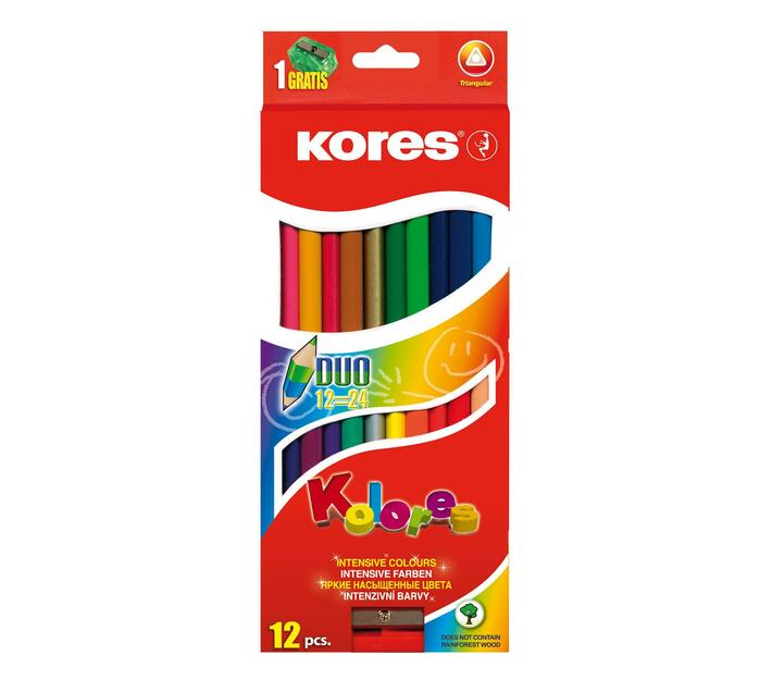 Kores colouring pencils 12`s
