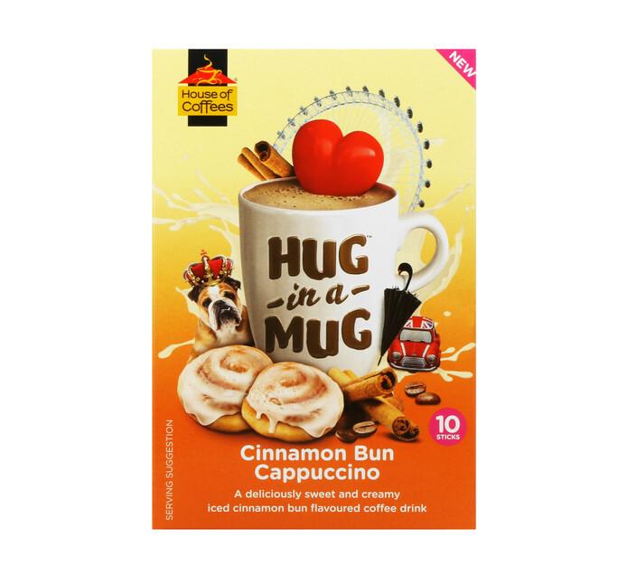 House Of Coffees Hug in a Mug Cappuccino Cinnamon Bun (10 x 24g)