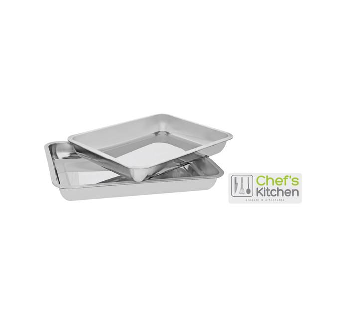 Chef's Kitchen 2-Piece Roaster Pan Set