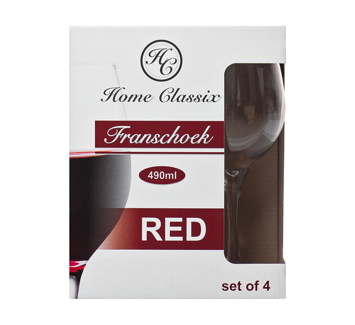 Home Classix 490 ml Franschoek Red Wine Glass 4-Pack