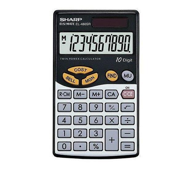 Sharp EL-480SB Desktop Calculator