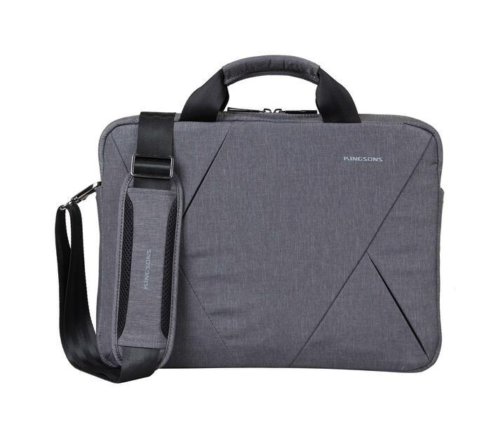 Kingsons Sliced Series 14.1` Messenger Bag - Grey