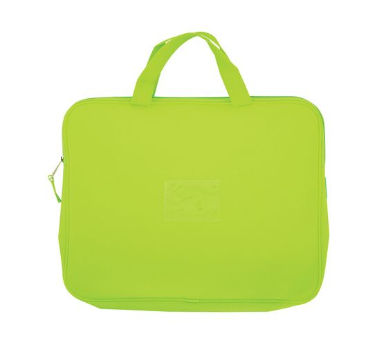 Kenzel A4 Book Bag with Handle Neon Green Neon green