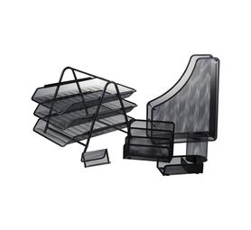 NO.19 Kenzel  Wire Mesh Desk set 6pcs Black