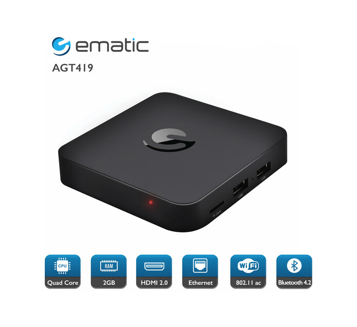 EMATIC 4K ULTRA HD ANDROID TV BOX