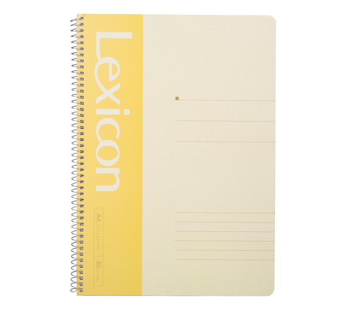 Deli Stationery Wire Bd. Softcover Notebook 80P-A4 Asst.
