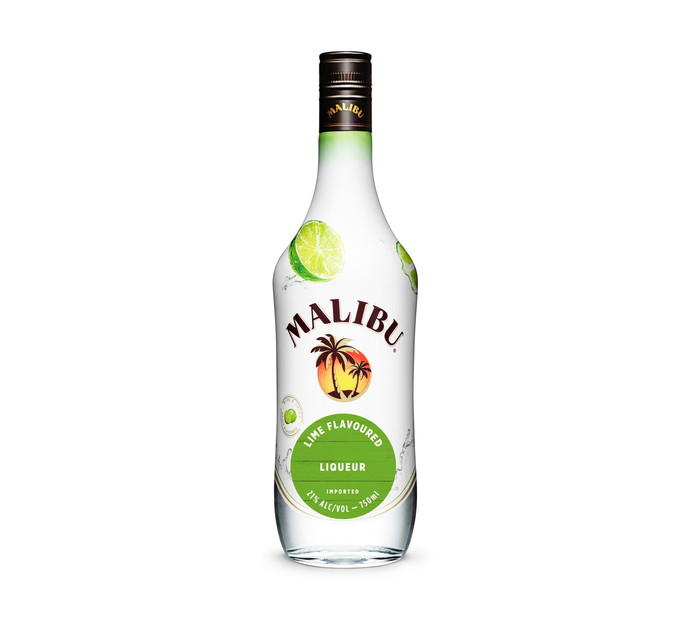 Malibu Lime Flavoured Rum (1 x 750 ml)
