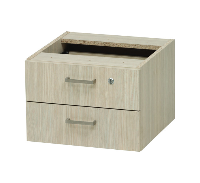 Platinum 2-Drawer Fitted Pedestal