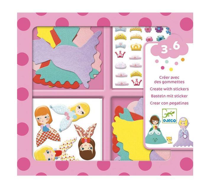 Djeco Sticker Creations- I Love Princesses