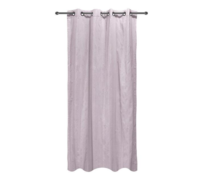 easyhome Nostos Striped Solid Eyelet Curtain Lilac 140 x 270cm