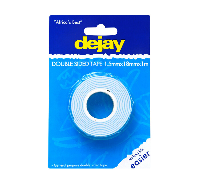 Dejay 18X2mmX1m Double Sided Tape