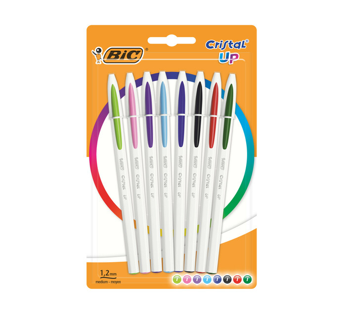 BIC Cristal Up Ball Pens Assorted 8-Pack Assorted