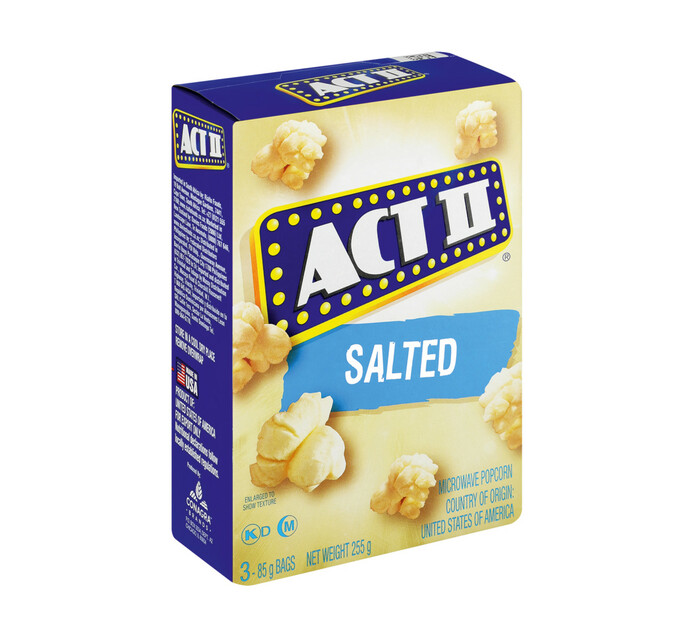 Act 11 Microwave Popcorn Salted (12 x 242g)