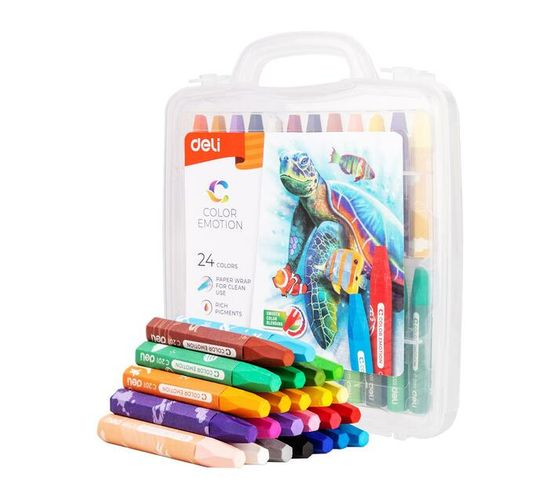Deli Stationery Oil Pastel 24 Colors Asst.