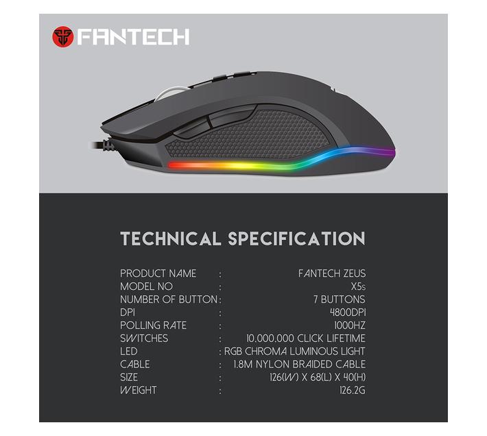 Fantech Macro Pro Gaming Mouse ZEUS