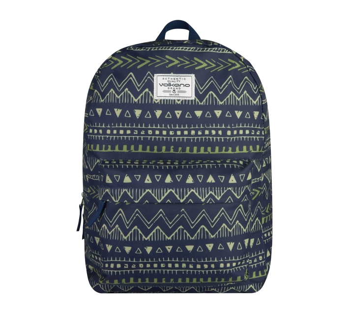 Volkano Diva Series 15.6` Backpack in Navy Aztec with Elasticized Laptop Compartment and Adjustable Shoulder Straps