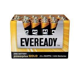 EVEREADY 24 Pack Power Plus gold AAA Batteries