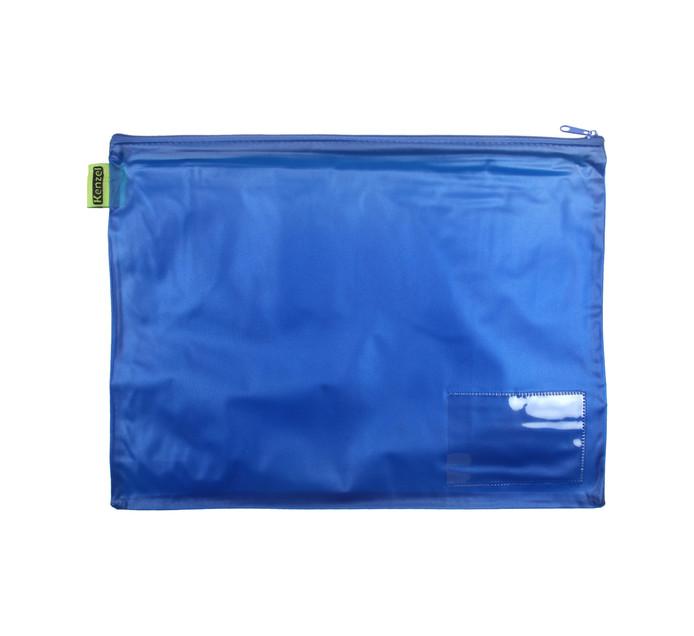 Kenzel A4 PVC Book Bag Blue Each Blue