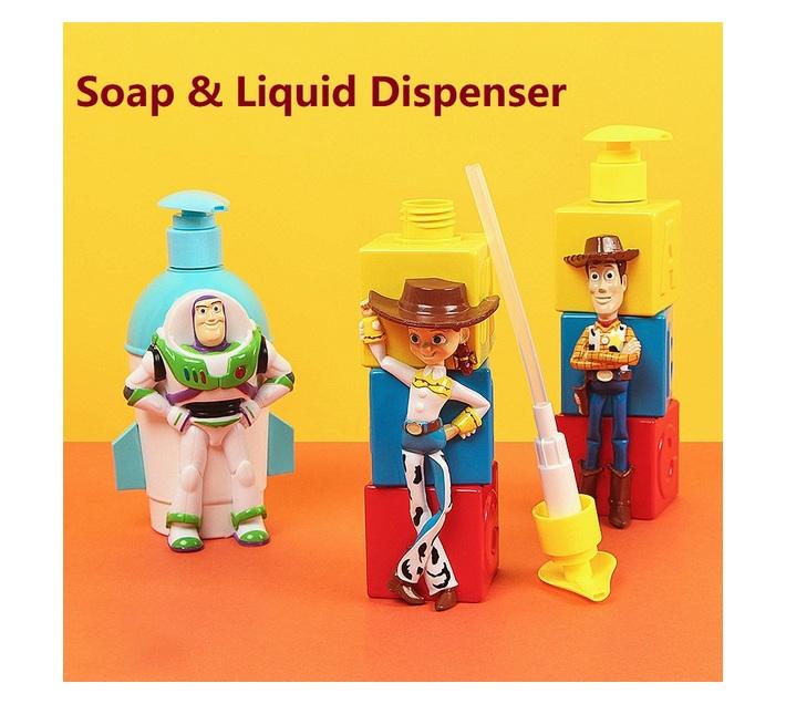 Toy Story Buzz soap & liquid dispenser pump for kids bathroom accessories 11.3 fl oz