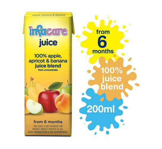 Infacare Fruit Juice Apricot (6 x 200ml)