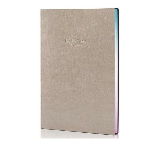 Deli Stationery Leather Cover Notebook 25K/112 Sheets Blue