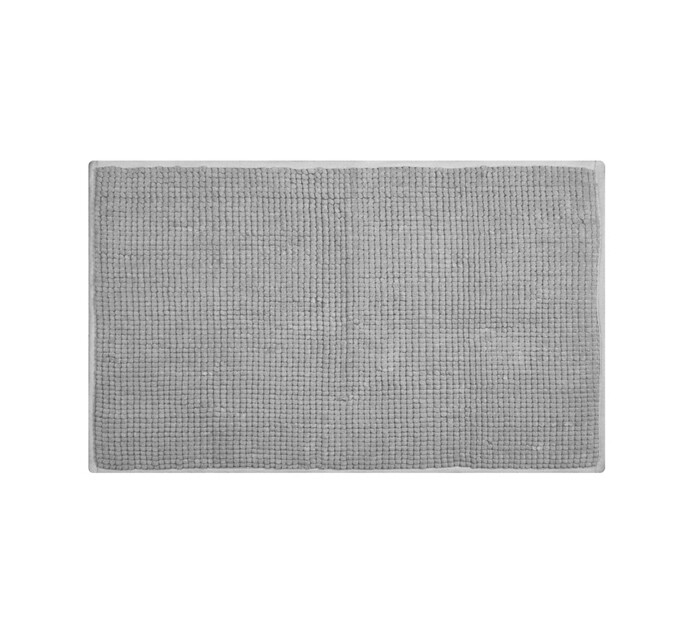 Home Living 50 cm x 80 cm Chenille Bath Mat Ash Grey