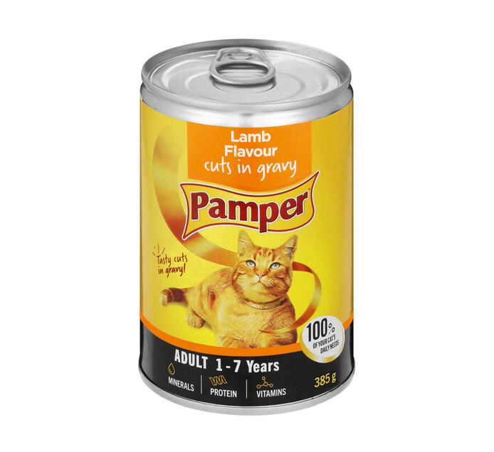 Pamper Moist Cat Food Lamb And Gravy Cuts (1 x 385g)
