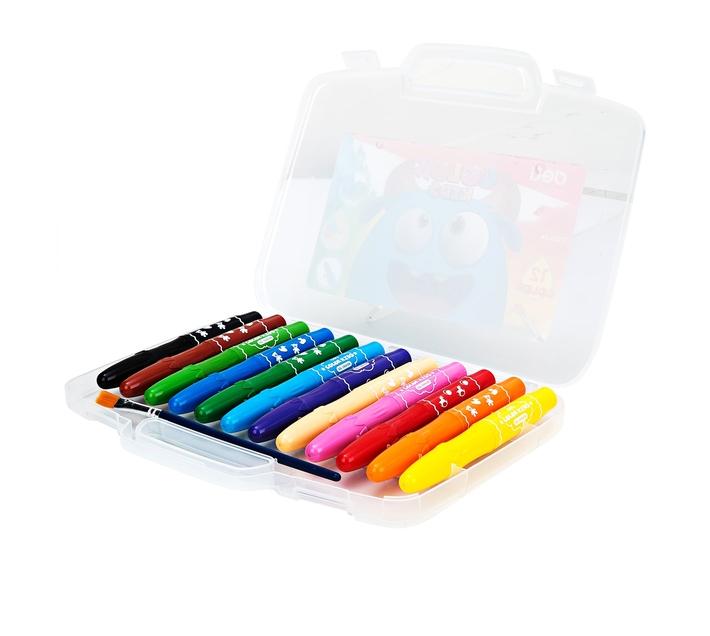 Deli Stationery Gel Crayon 12 Colors Asst.
