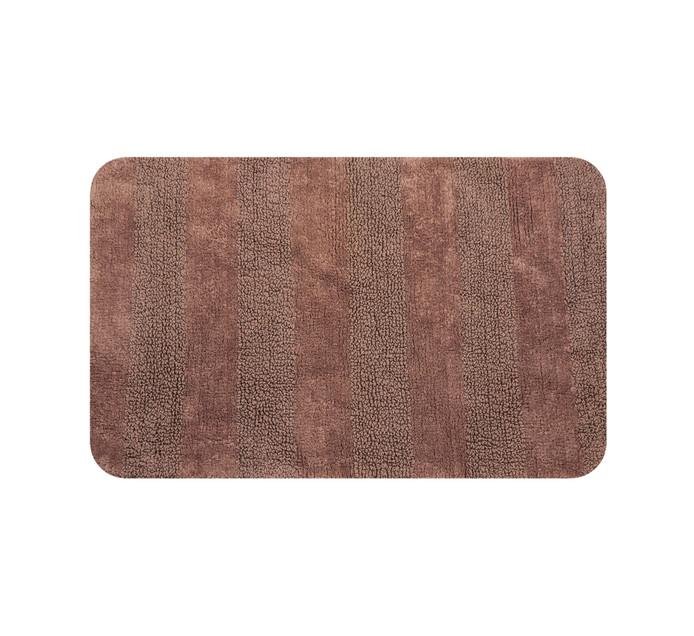Home Living 85 x 55 cm Luxor Reversible Bath Mat Pebble