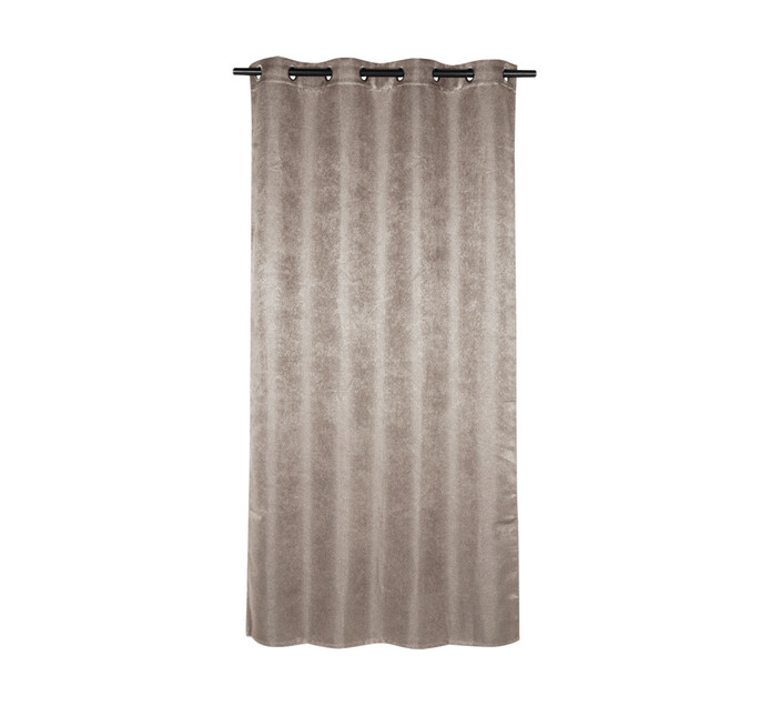 Design Collection 135 x 225 Textured Eyelet Curtain Natural