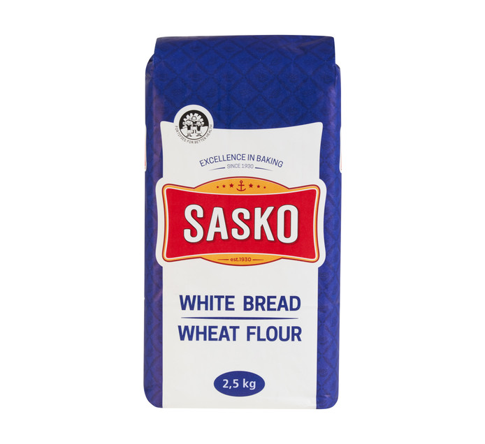 Sasko White Bread Wheat Flour (4 x 2.5kg)