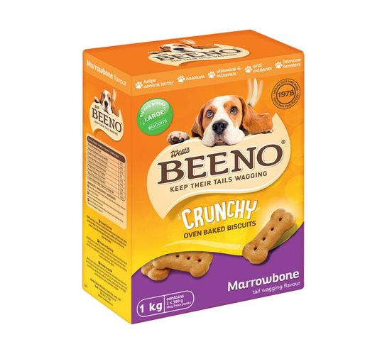 Beeno Dog Biscuits Large Marow Bone (1 x 1kg)
