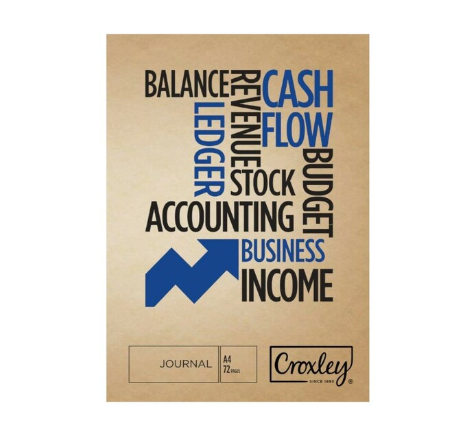 Croxley A4 Bookkeeping Journal Book 72-Page