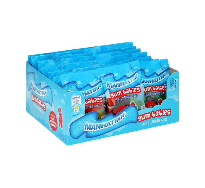 Manhattan Mini Prepacks Gum Babies (24 x 50g)